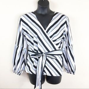 International Concepts Striped Blouse Size XL